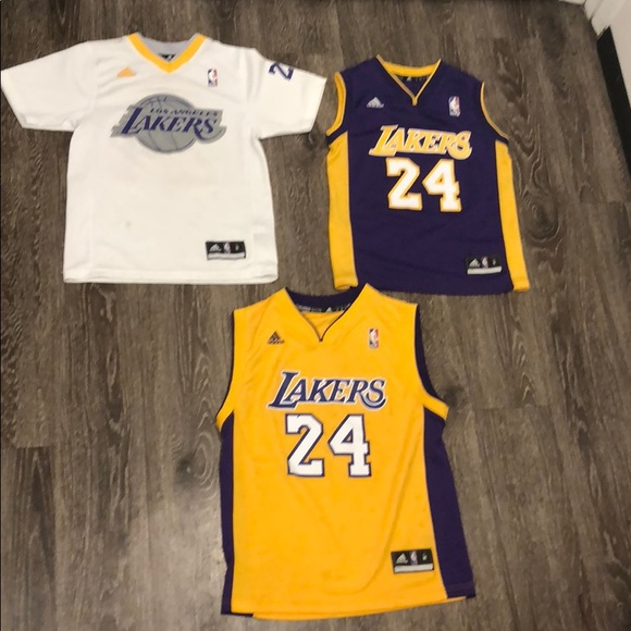 sneakers for cheap f951a db94b 3 ADIDAS KOBE BRYANT JERSEYS Size Small and Medium